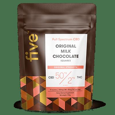 Five CBD + THC Chocolate